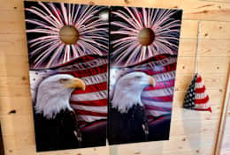 Smoky Best - Lucky Eagle Corn hole boards