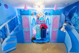 Frozen bedroom with dress up costumes