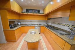 Fully furnished marble kitchen