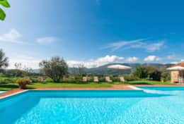 There is a spacious pool at La Casella