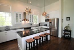 Kitchen with modern amenities