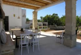 Giardino nascosto - portico, outdoor kitchen and dining area - marittima - Salento