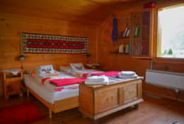 Chalet Schliechten - Double Bedroom with Sink (3)