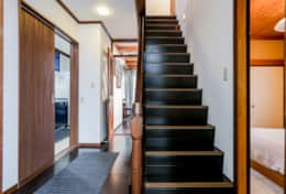 Staircase leading up  Gotanda House| Tokyo Family Stays |Spacious | Family Friendly