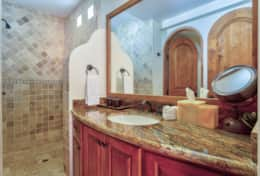 GUEST BATHROOM. DOWNSTAIRS. Beachfront Private Villa Vacation Rentals Los Cabos