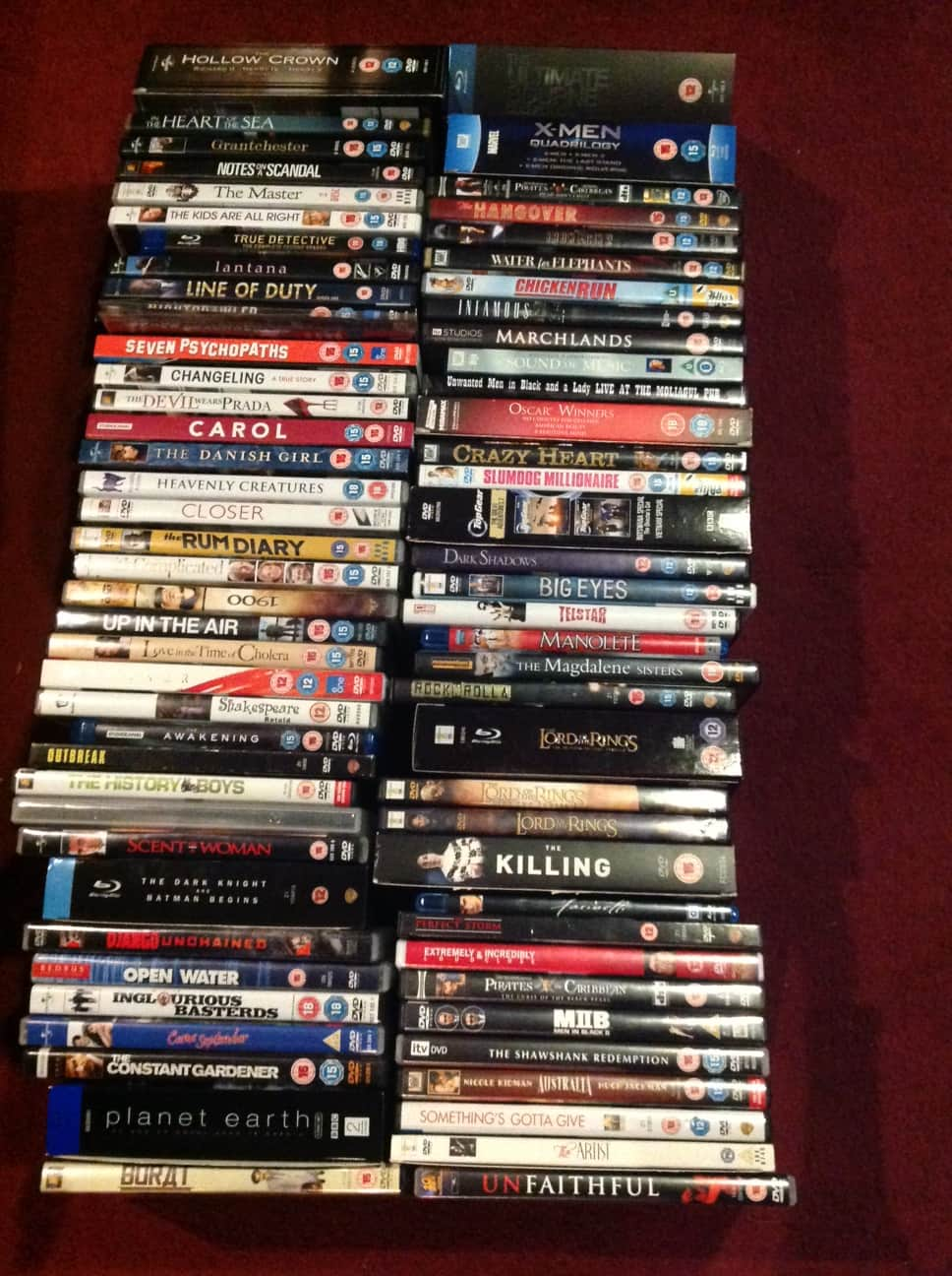 The owners DVD collection in the cinema room, but you can always bring your favourites