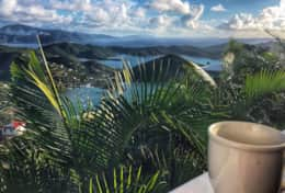 Coffee in paradise!