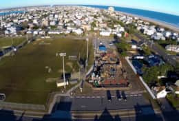 Ariel View of Shark Park and Recreation fields at 26th street