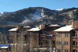 Beautiful Mountain View of the Park City Ski Jump from unit