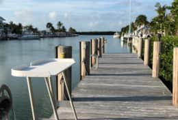 The Dock is perfect for cleaning fish and boat access