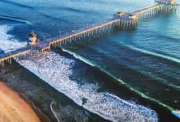 World famous Huntington Beach pier -- just 1 mile away