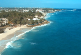 Aerial view of Silver Sands Beach