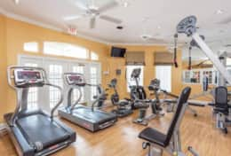 Workout facility free for all guests