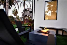 Front yard seating and firepit
