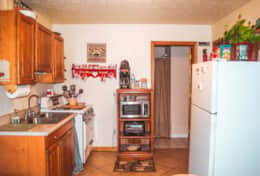 Kitchenette stocked with water, coffee and hot chocolate. Private bathroom with shower