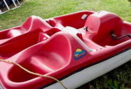 Family peddle boat for guests to use!