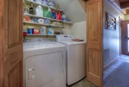 Full washer and dryer, detergent provided