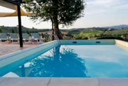 Private pool with great views at Casa San Terenziano