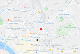 Location of the apartment in Toulouse