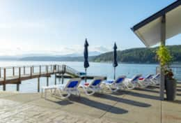 Walls of Glass Hood Canal Vacation Rental: Sun Chairs Olympic Mountains
