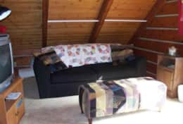 Bayside Log Home Pull Out Queen Couch