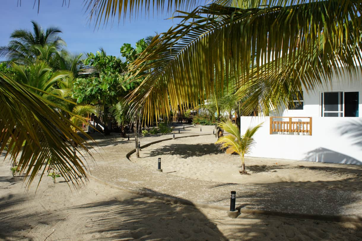 Path from beach to bungalows