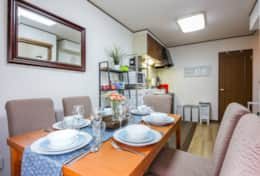 Dining area Tokyo Family Stays | Yoyo house| Family friendly accommodation |