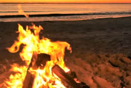 Bonfires are welcome on the beach