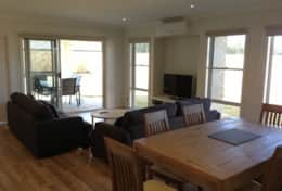 Dining & living room Makai Barlings Beach Pet friendly accommodation Batemans Bay