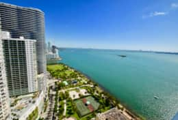 Fully furnished balcony, amazing views of Biscayne Bay