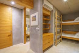 Second bedroom with a bunk and a single bed